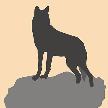 Graphic Wolf Design - I love wolves by Juttas-Shirts