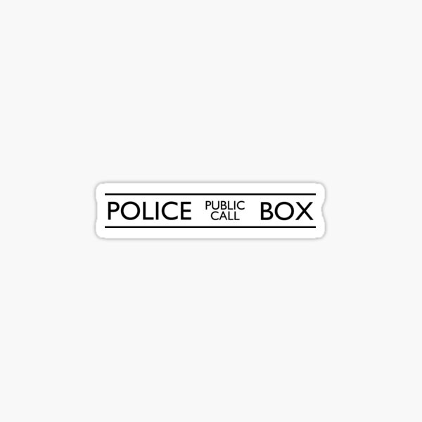 Police Public Call Box Sticker