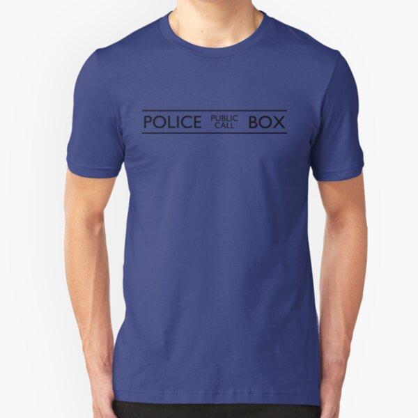 Police Public Call Box Slim Fit T-Shirt