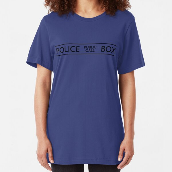 Police Public Call Box Slim Fit T-Shirt
