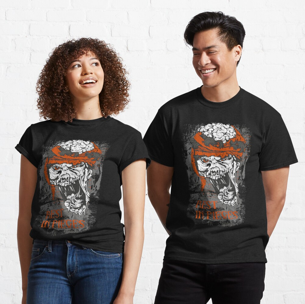 Rest in Pieces skull brains Classic T-Shirt