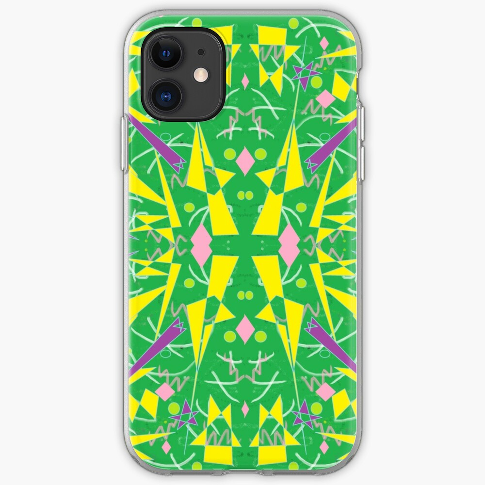 Princess Abstract green yellow iPhone Case