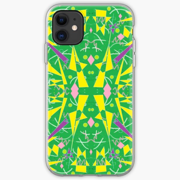 Princess Abstract green yellow iPhone Soft Case