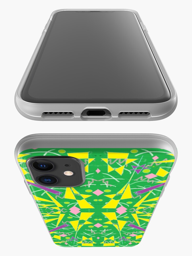 Alternate view of Princess Abstract green yellow iPhone Case