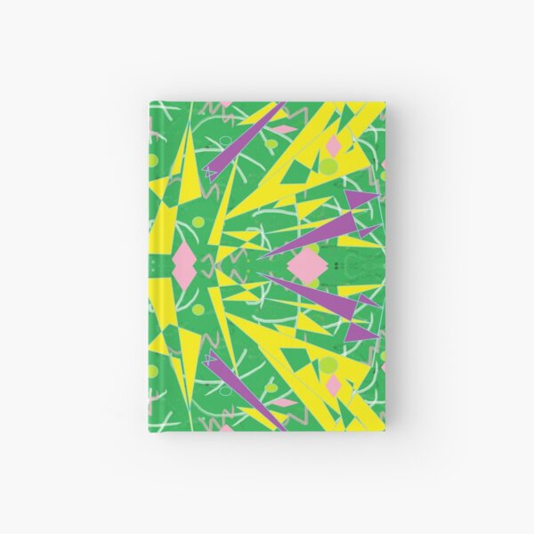 Princess Abstract green yellow Hardcover Journal