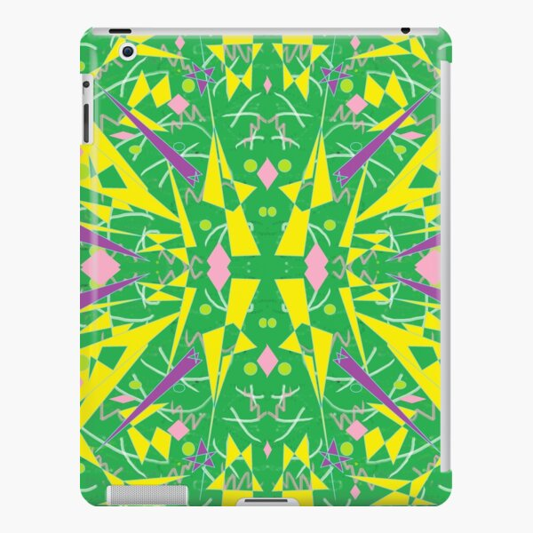 Princess Abstract green yellow iPad Snap Case