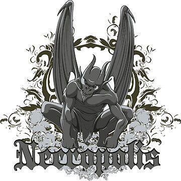 Necropolis angel of death wings skulls by designhp