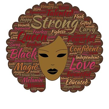 Afro Word Art Black History Month Natural Hair  by ZippyThread