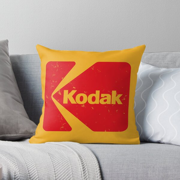Classic Kodak Logo - 1971 Throw Pillow