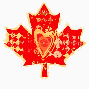 Canada Love T-Shirt by Jamiecreates1