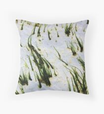 Chalk cliffs Throw Pillow