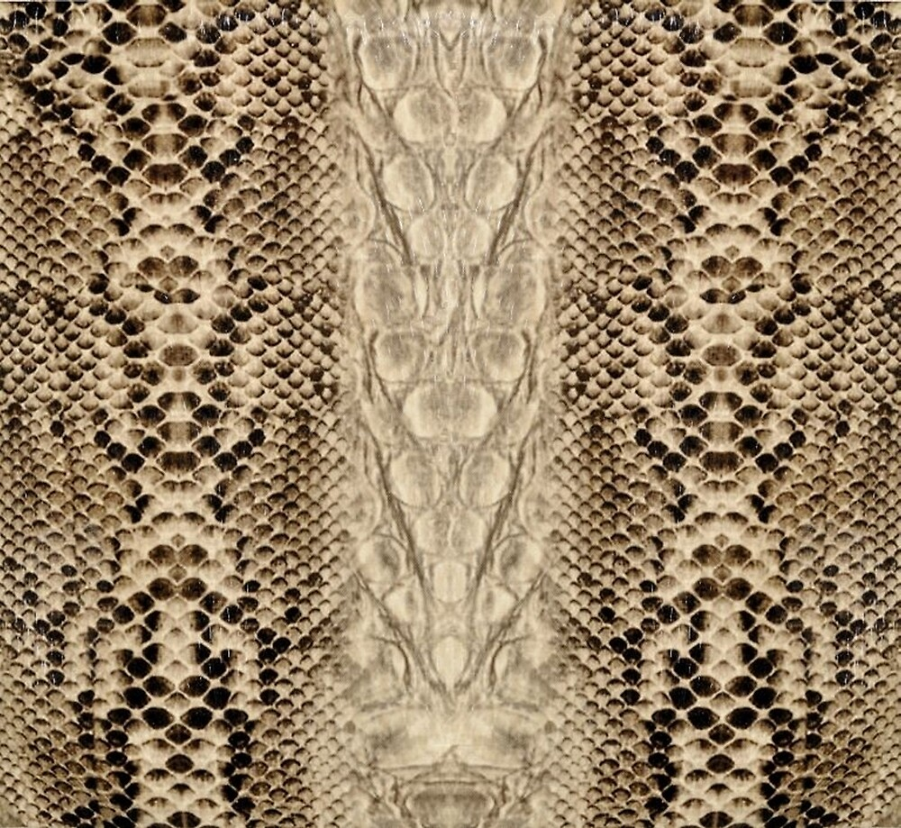 Brown and Beige Faux Snake Skin Pattern by HavenDesign