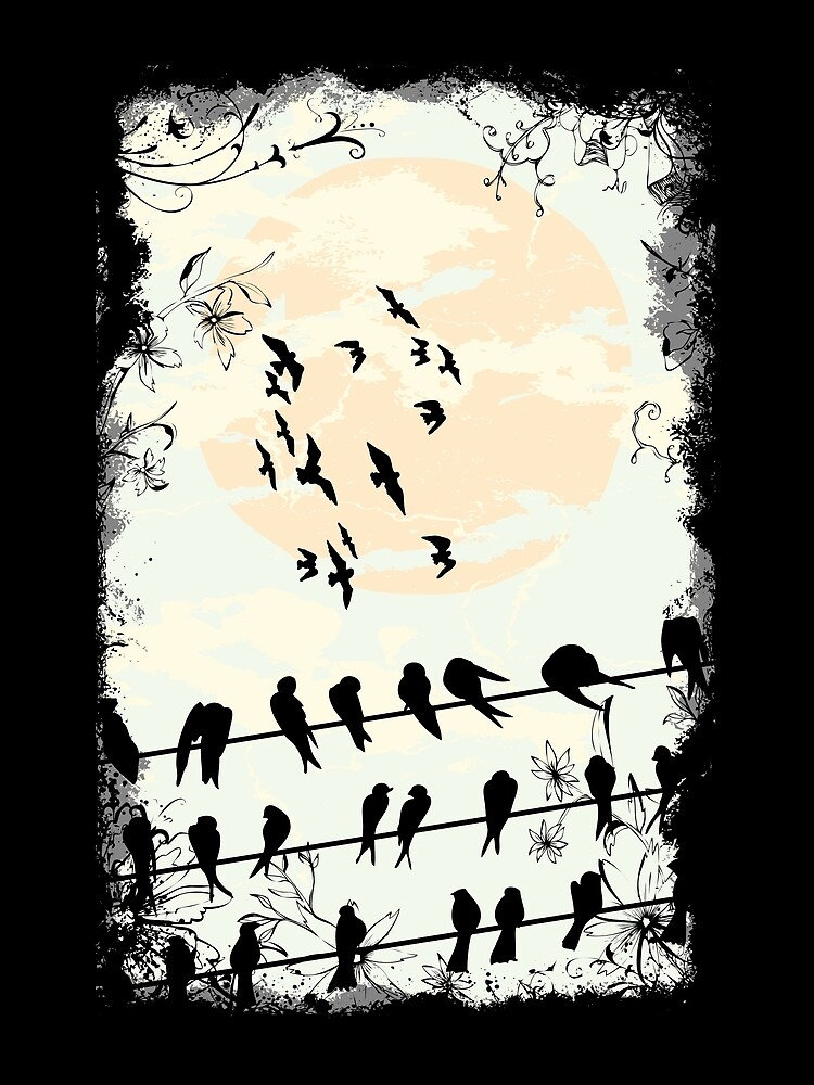 swallows gather to migrate south by designhp