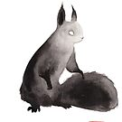 « Sumi-e Squirrel » par Threeleaves