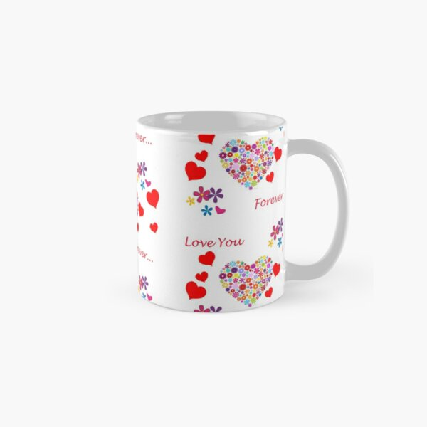 Hearts & Flowers on Valentine's Day Classic Mug