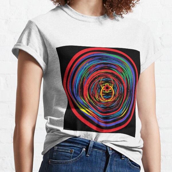 abstract, design, art, shape, pattern, illustration, fantasy, curve, creativity, modern, color image, circle Classic T-Shirt