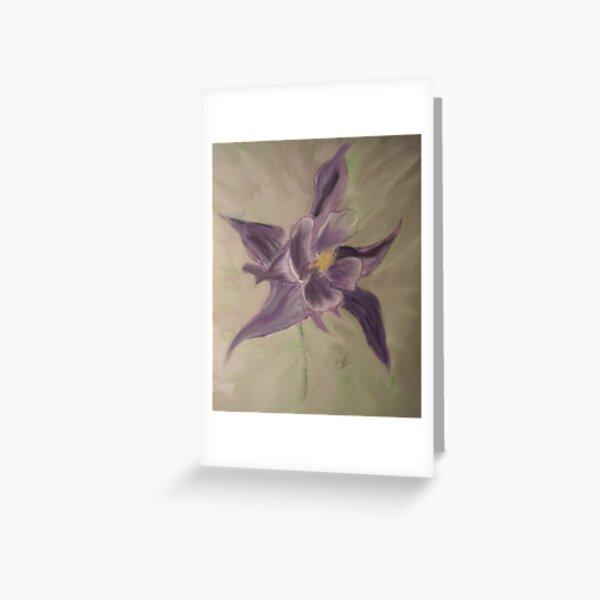 Aquilegia Vulgaris.Ladies Bonnet Greeting Card