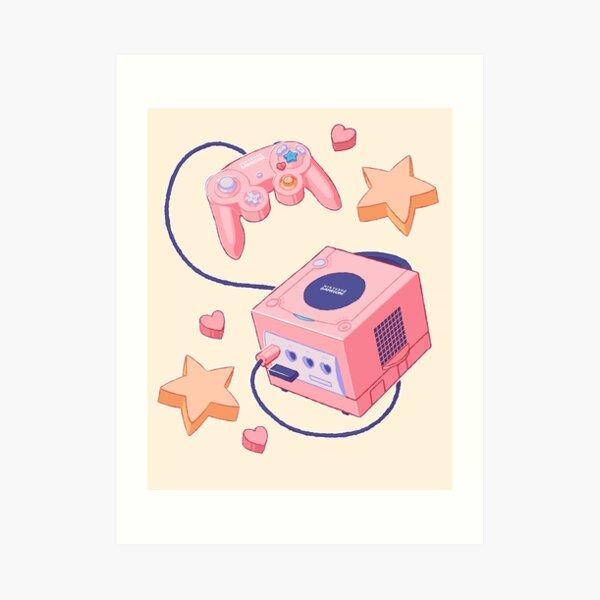 Pastel Gamecube Art Print