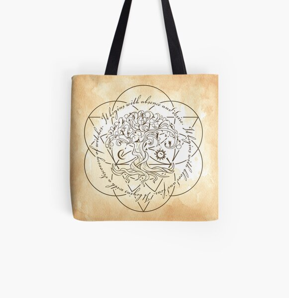 A Discovery of Witches Book-inspired Tree of Life All Over Print Tote Bag