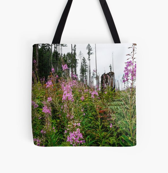 Fireweed Love All Over Print Tote Bag