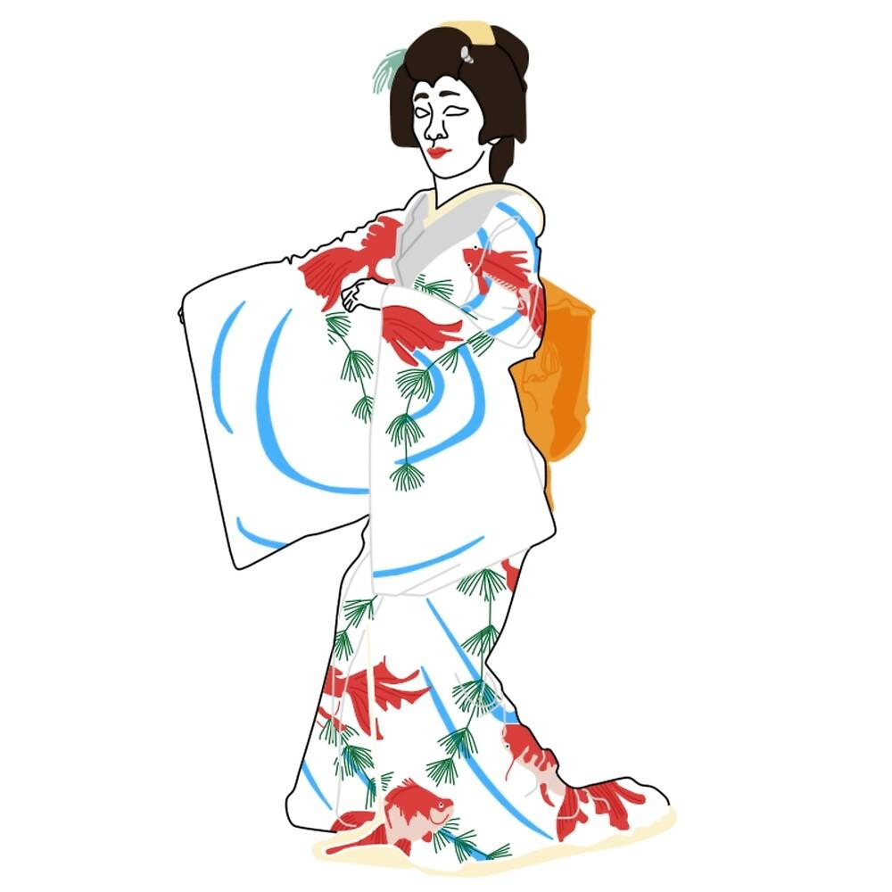 Goldfish Kimono Motif by KHRArts