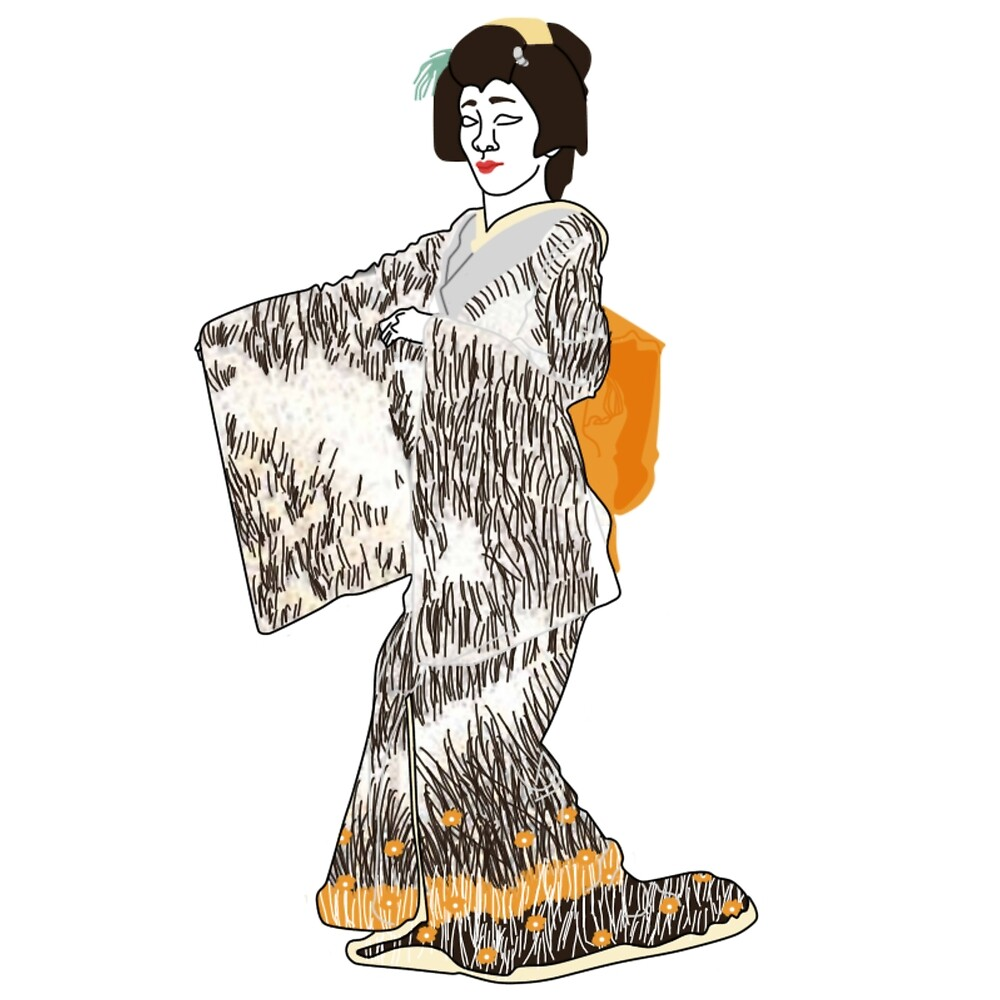 Pampas Grass Kimono Motif by KHRArts