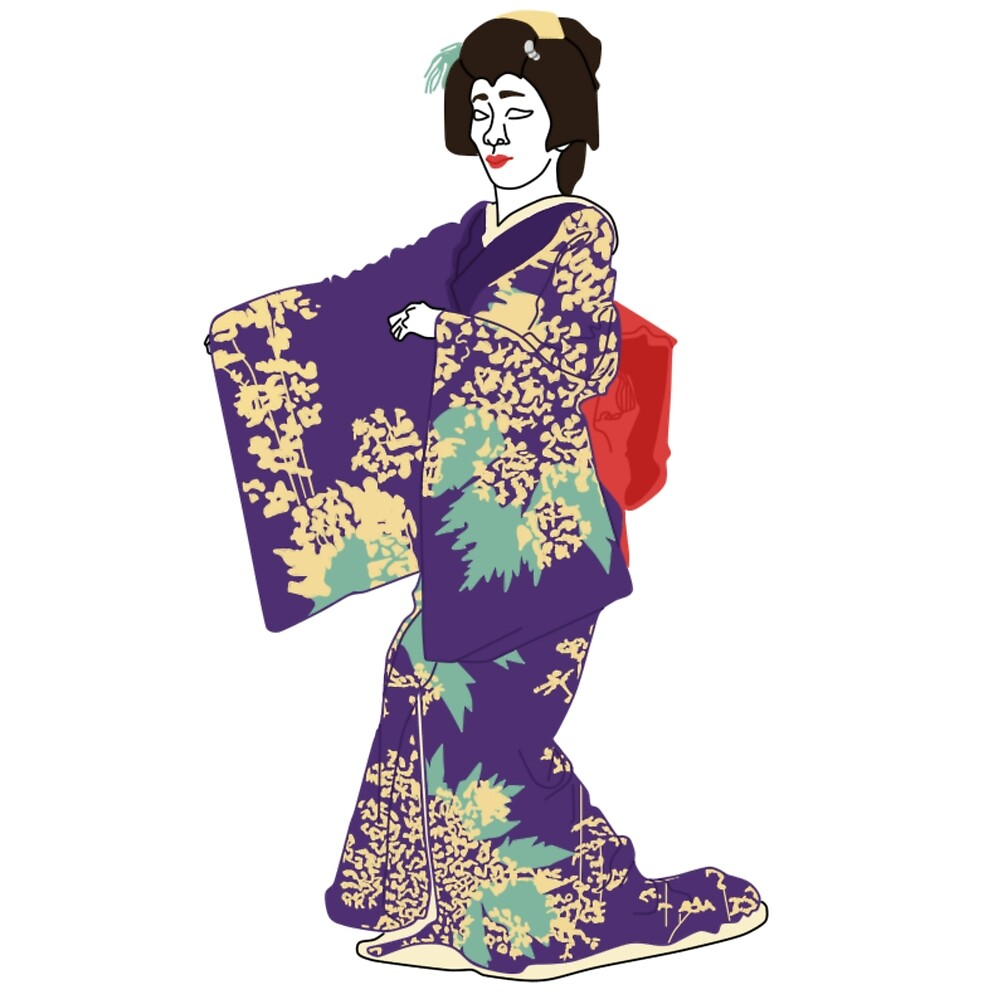 Ominaeshi Kimono Motif by KHRArts