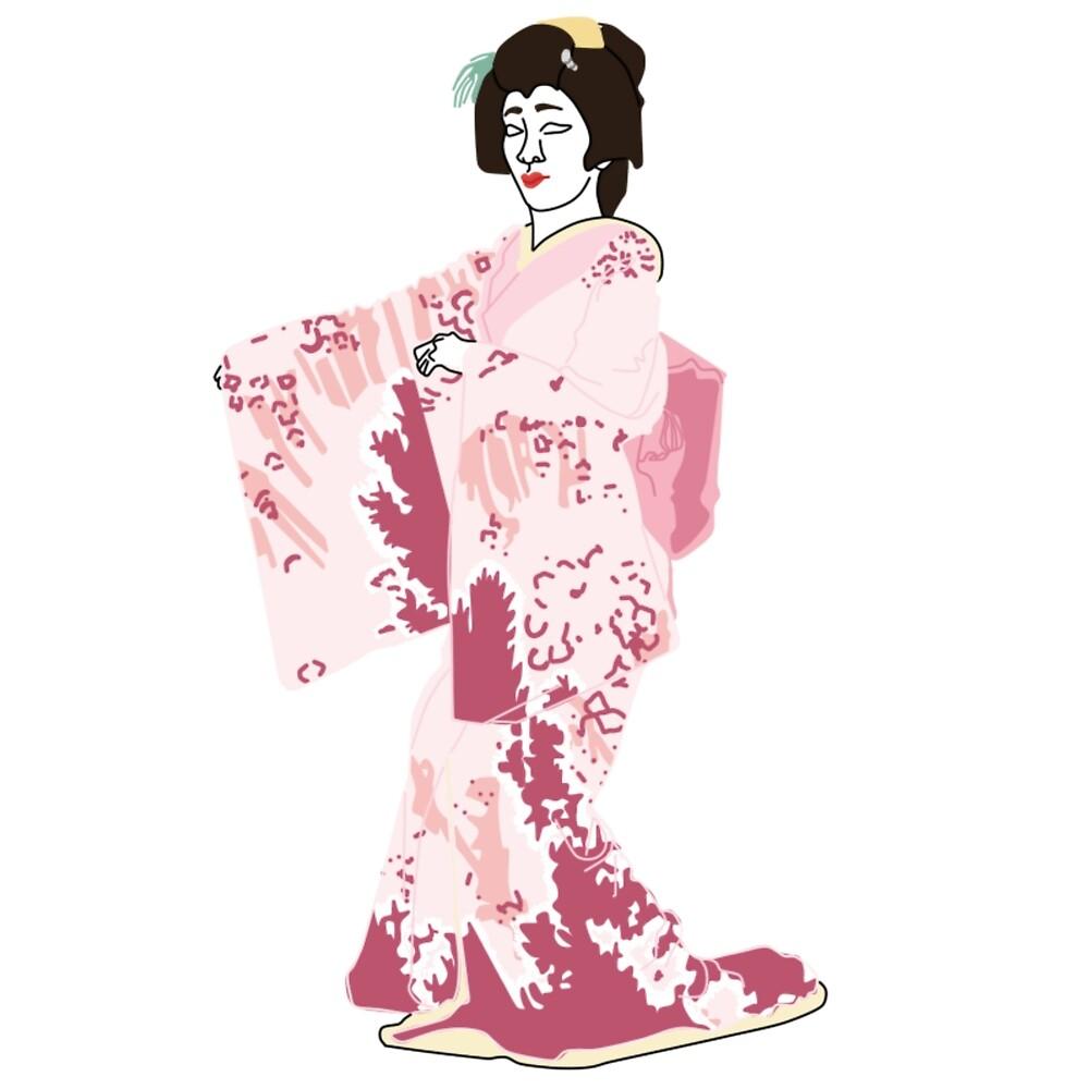 Pinks Kimono Motif by KHRArts