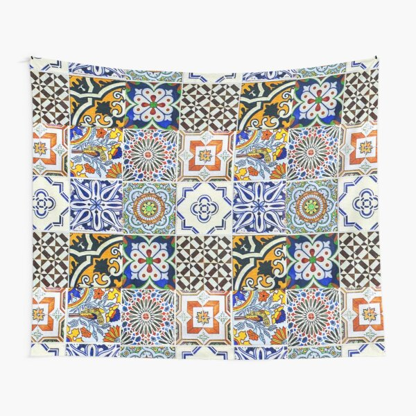 Colorful Portuguese Tile Tapestry