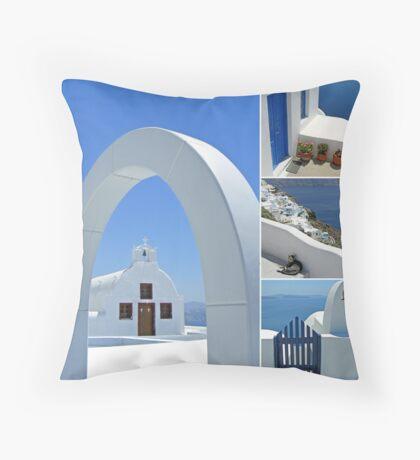 Colours of Greece Throw Pillow