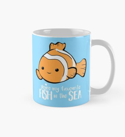 You're my favourite FISH in the sea - Valentines day pun - Anniversary Pun - Birthday Pun - Fish Pun - Clownfish Mug