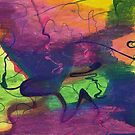 Colorful Abstract Cloud Swirling Lines by Annette Marionneaux Stevenson