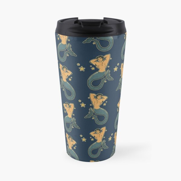 Merman Prince Eric Vintage Sailor Style Tattoo Travel Mug