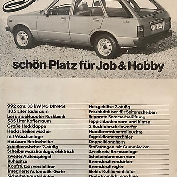 Toyota Starlet KP60 Wagon Advert by andreleichtfuss