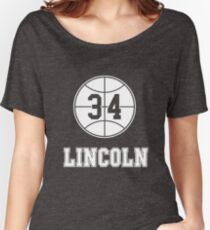 JESUS SHUTTLESWORTH 34 LINCOLN HIGH SCHOOL BASKETBALL Women's Relaxed Fit T-Shirt