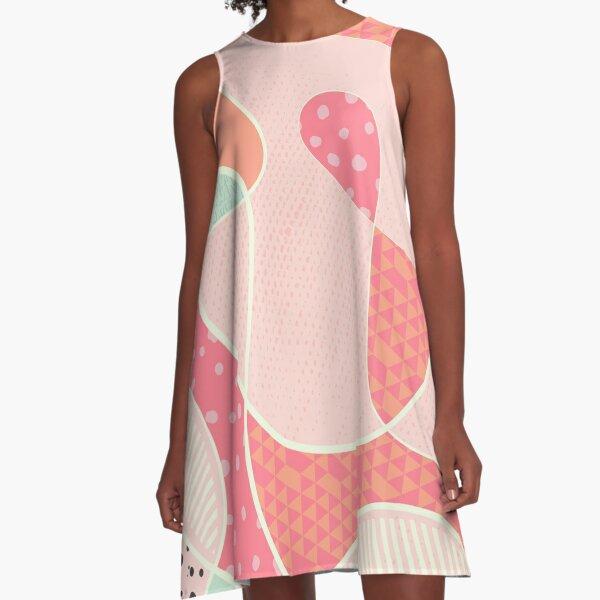 Continuous - Orange/Pink/Mint A-Line Dress