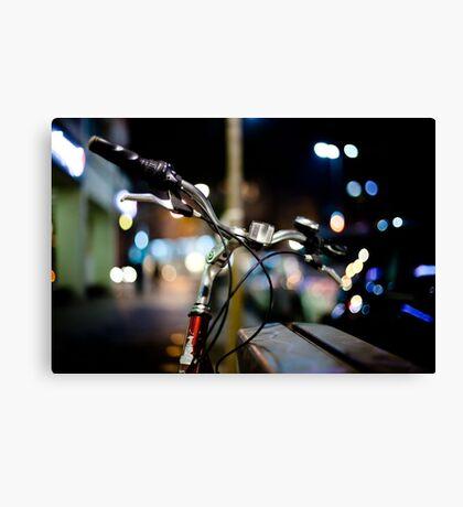 bicycle@night Canvas Print
