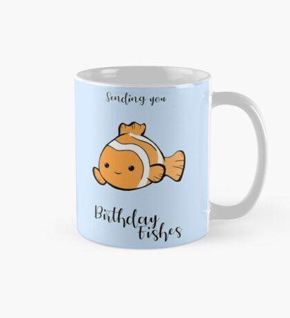 Sending you birthday FISHes - Fishing - Birthday Wishes -  Fish Pun - Birthday Pun - Funny Birthday Card - Cute Fish Mug