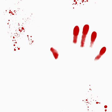 Blood splatter and hand print by DanTreasure