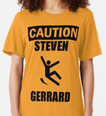 Caution: Steven Gerrard Slim Fit T-Shirt