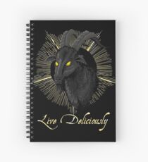 Black Phillip - Live Deliciously (The Witch) Spiral Notebook