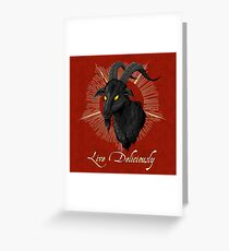 Black Phillip - Live Deliciously (The Witch) Greeting Card