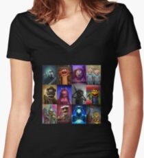 Muppet Maniacs Series 1 Women's Fitted V-Neck T-Shirt