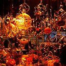 Glass Blower's Stand. Street Market in Montreux, Switzerland by Igor Pozdnyakov
