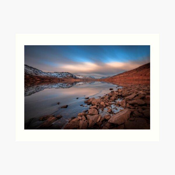 Loch Arklet, glacial long exposure..  Art Print
