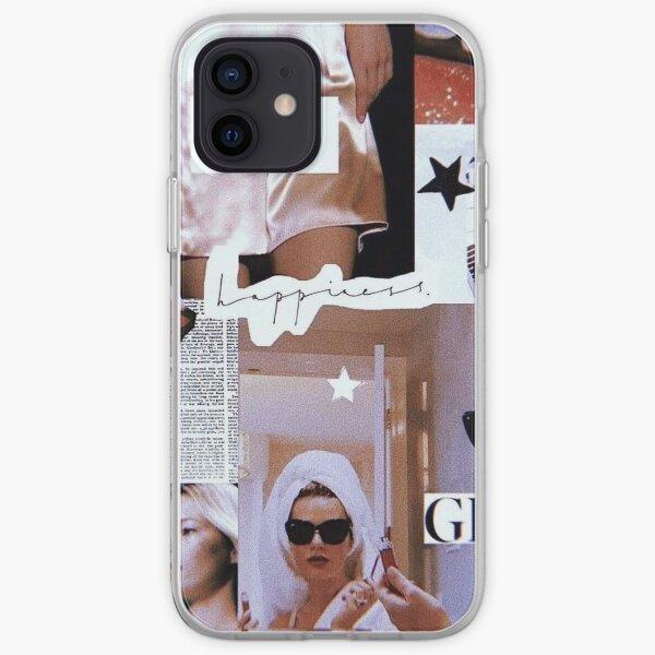 collage de bonheur rétro rose Coque souple iPhone