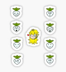 Super Smash Brother: Peach Turnip Variations Sticker