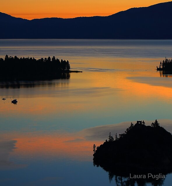 Emerald Bay At Sunrise by Laura Puglia