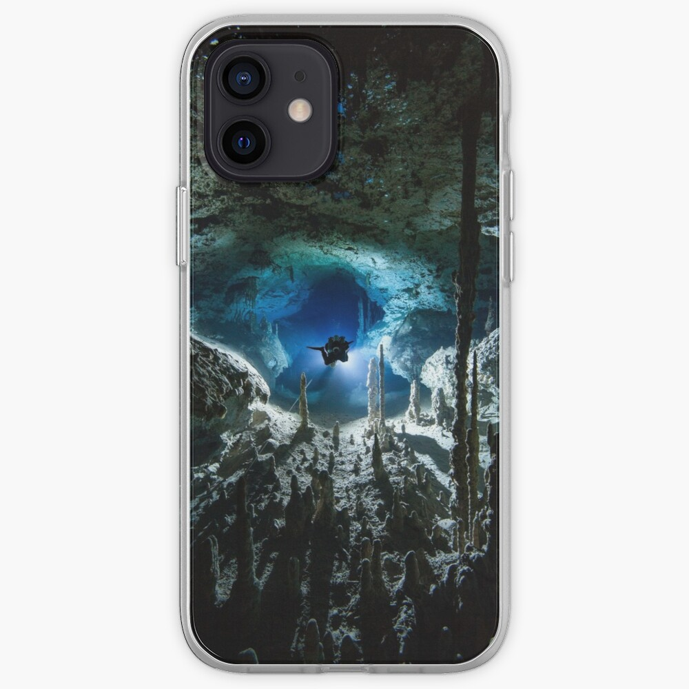 Cave diving iPhone Case & Cover