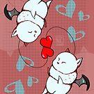 Valentine Moogles FFXIV FF14 by noxity